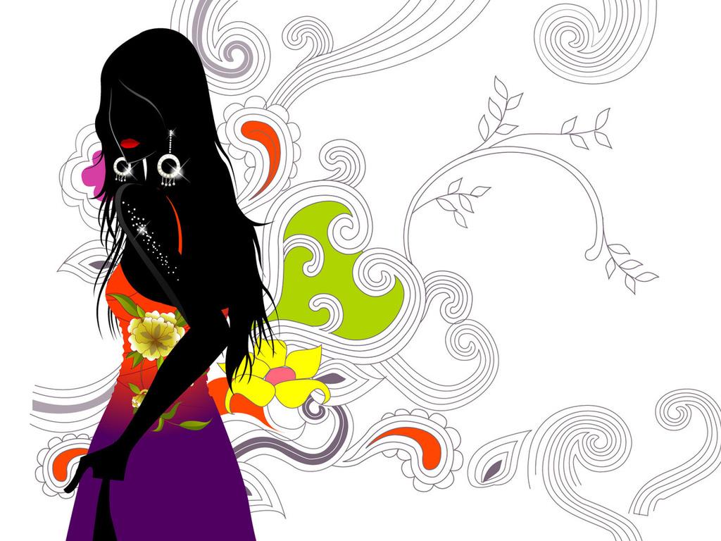 Графические картинки цветы 8