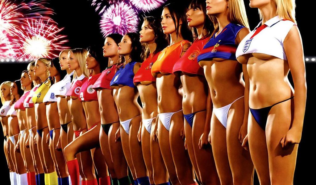 1280x1024 девушки, футбол, Команда обои для рабочего стола скачать бесплатн