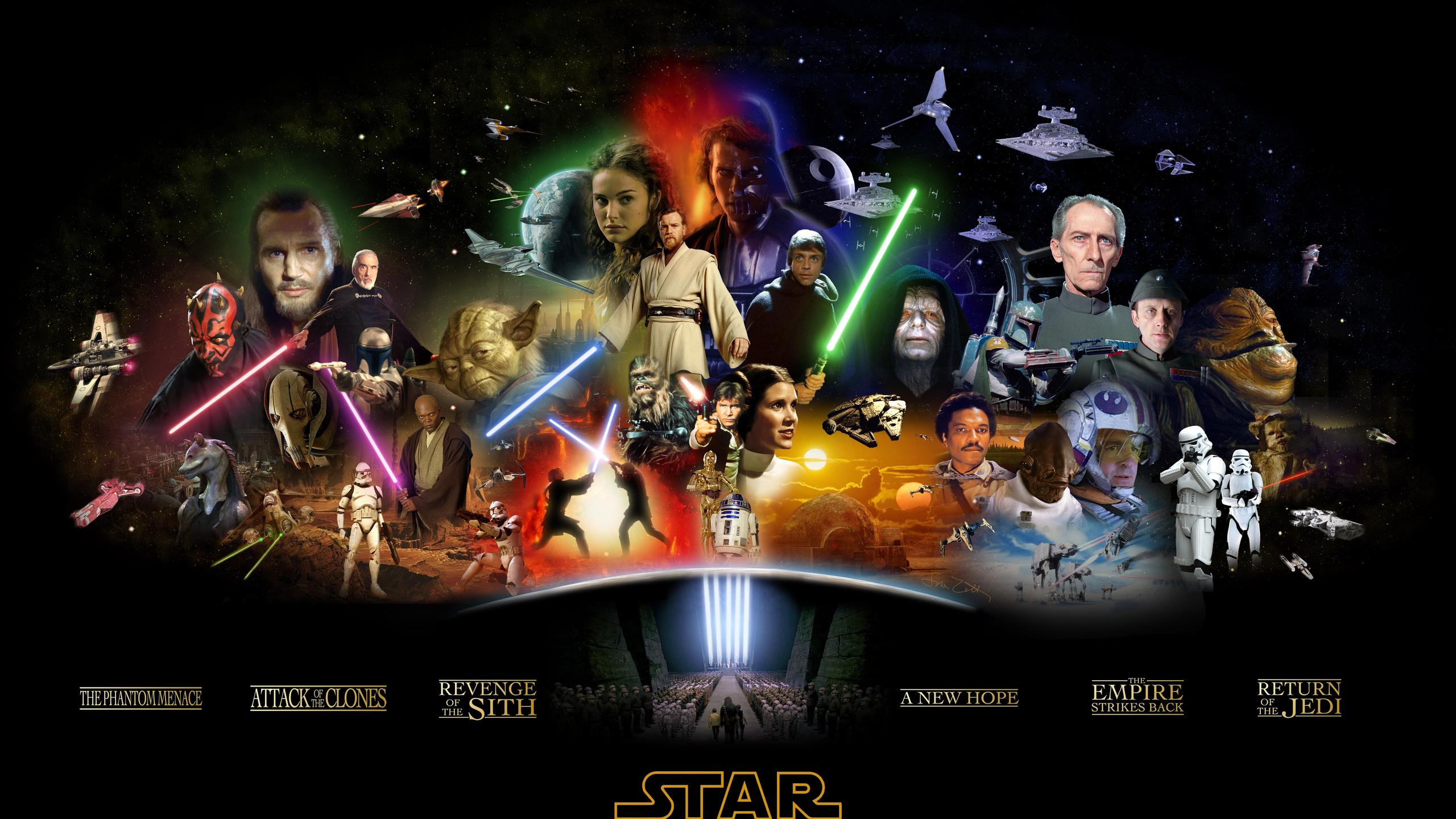 Star wars, звёздные войны, сага, герои, актеры, черный фон, коллаж