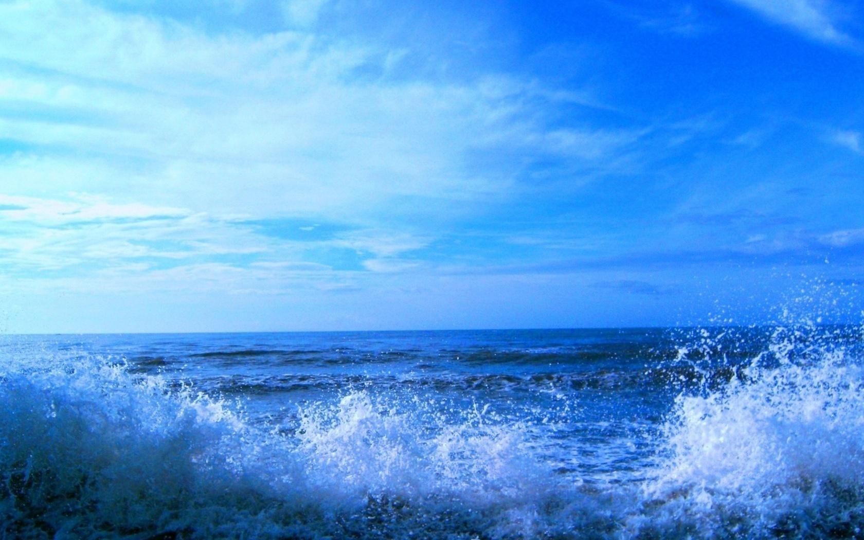 Волны вода прибой