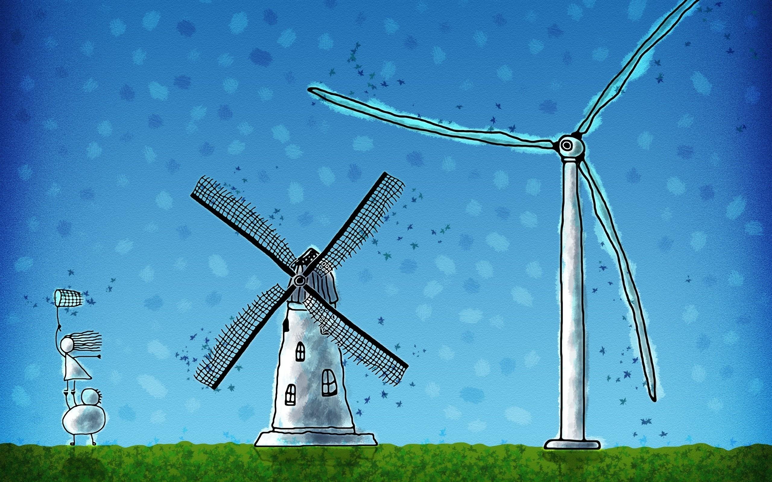 Обои ветряк. Разное foto 17