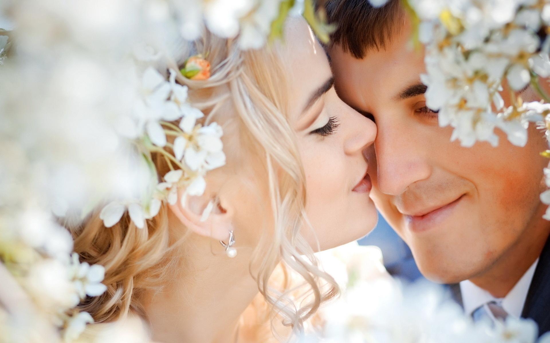 Обои венок, жених, Облака, влюбленные, невеста. Разное foto 18