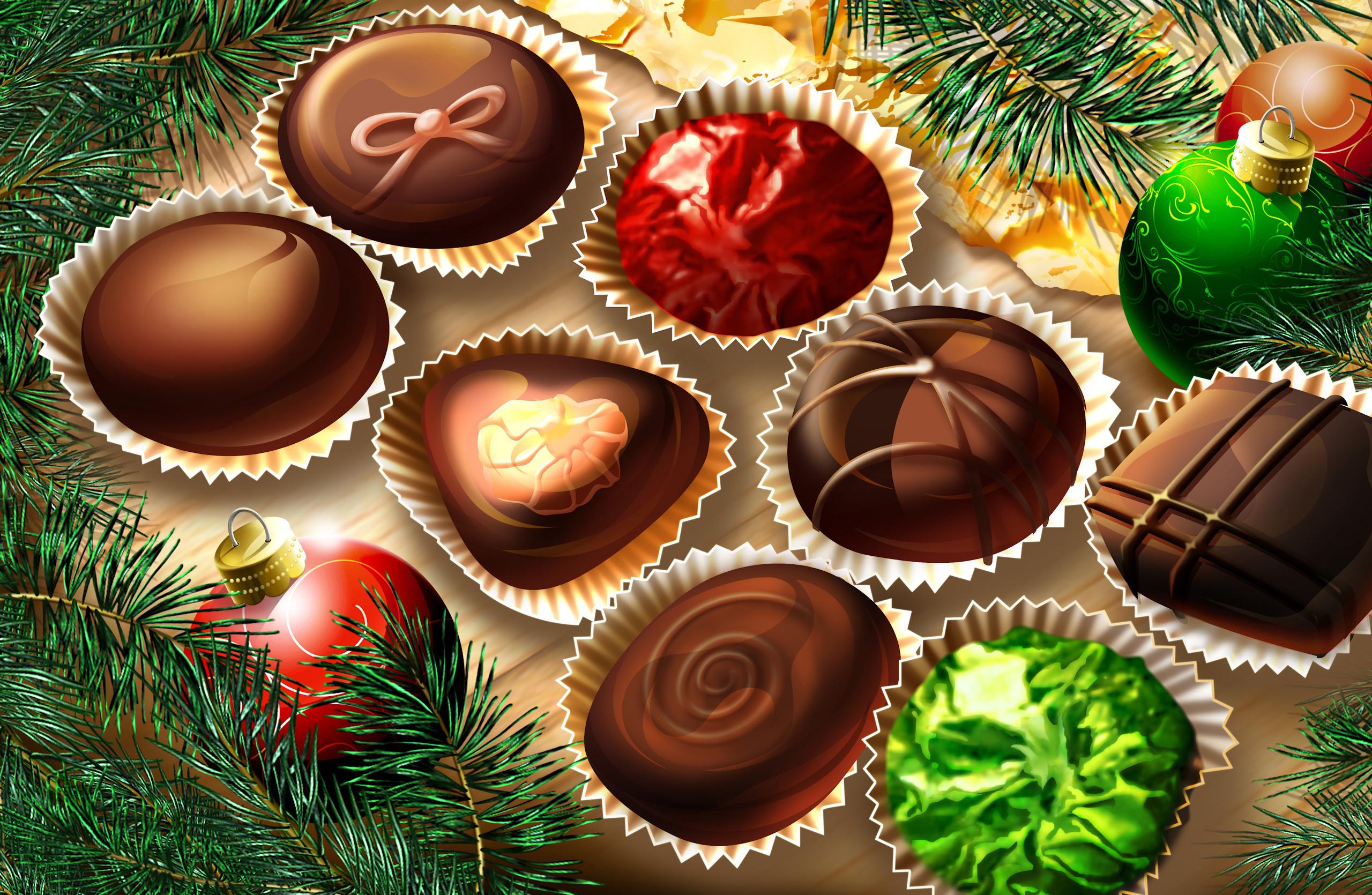 ... рабочего стола, картинки Новый год на: desktopwallpapers.org.ua/newyear/11198-sladosti-novyj-god-konfety...