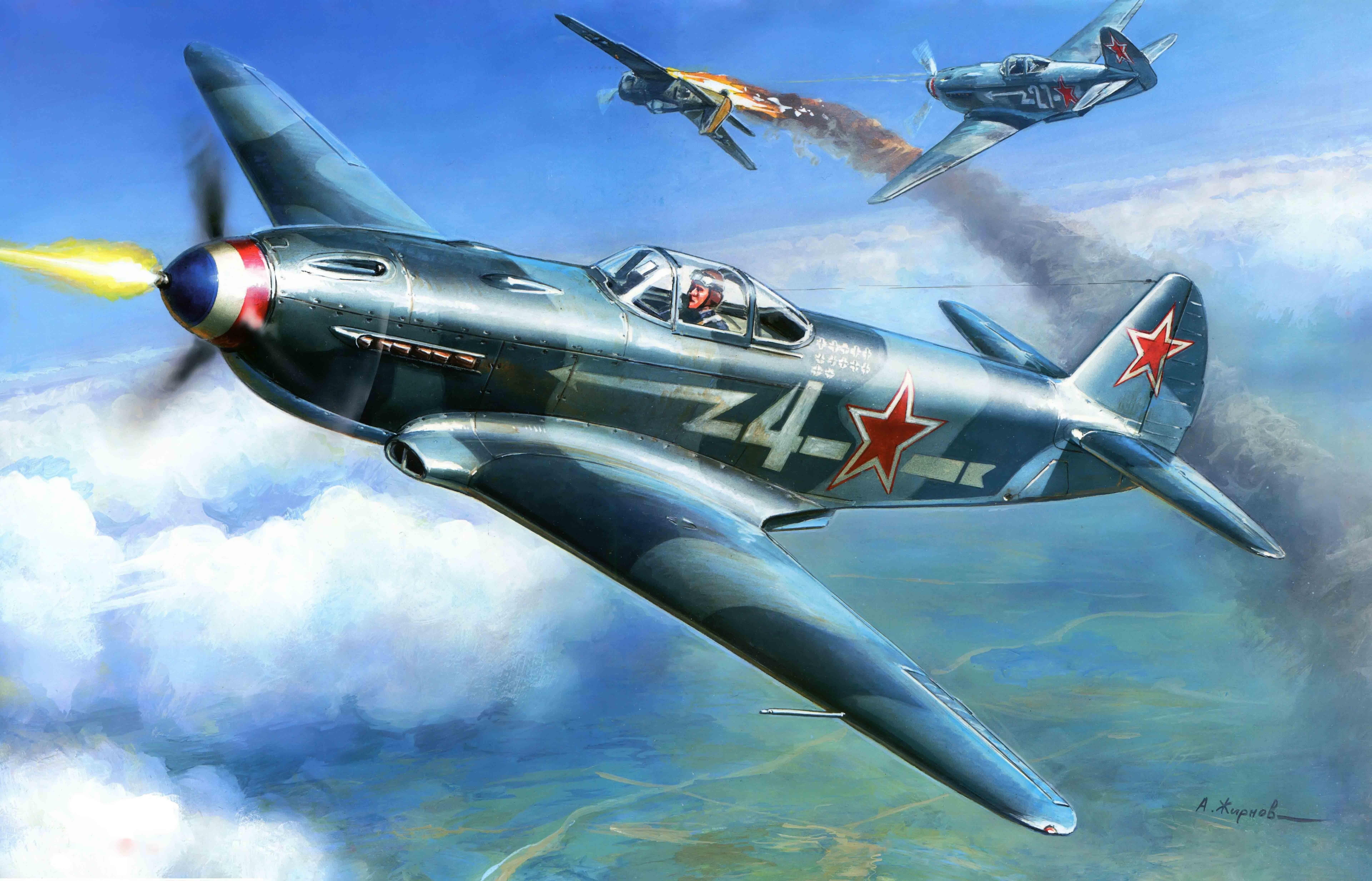 Обои historical, советский, military, club, як-9у, Самолёт. Авиация foto 13