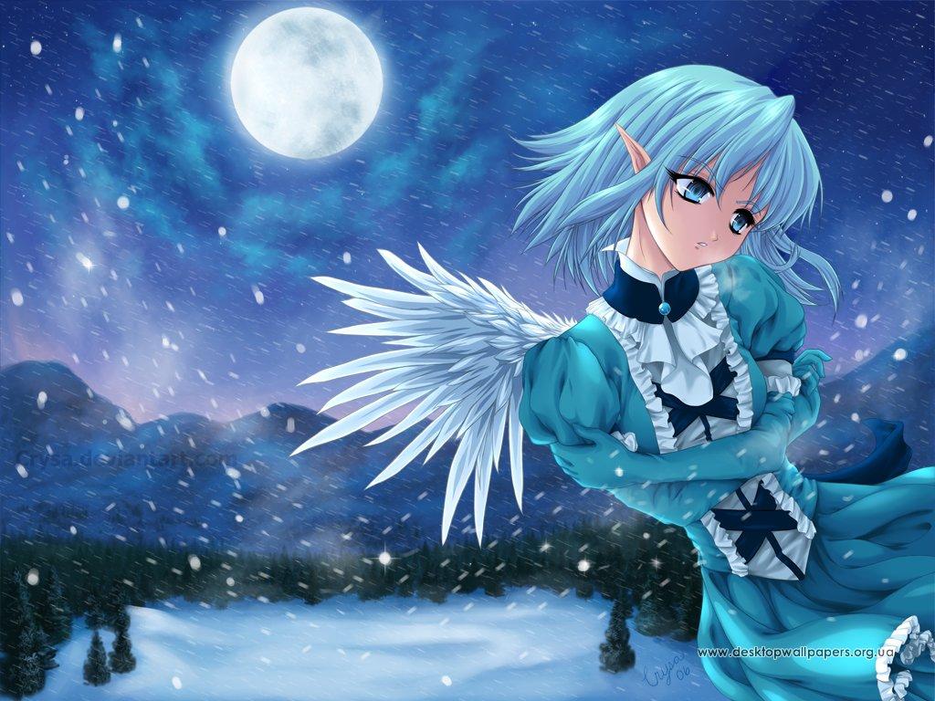 Обои аниме зима