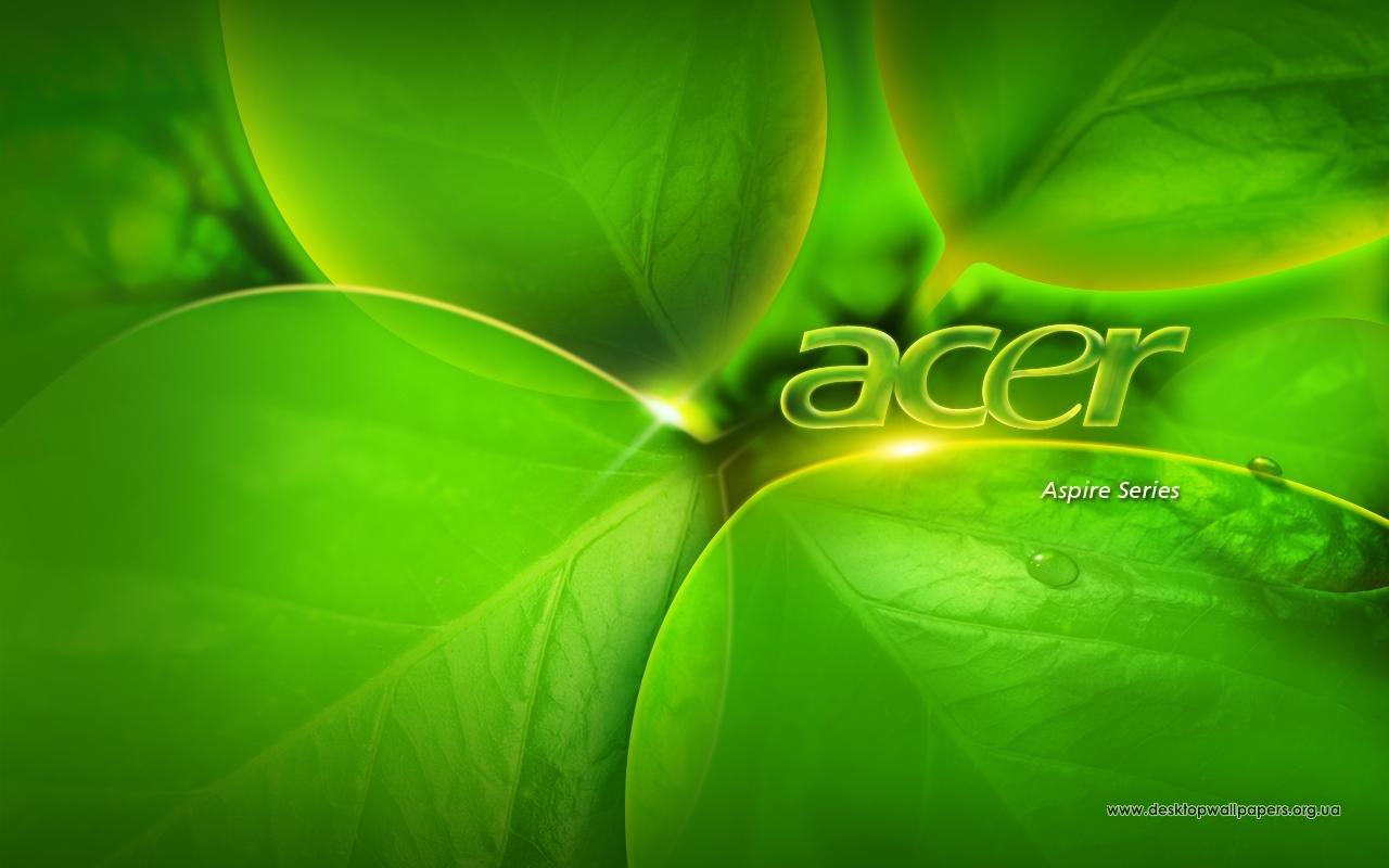 Обои природа acer green aspire