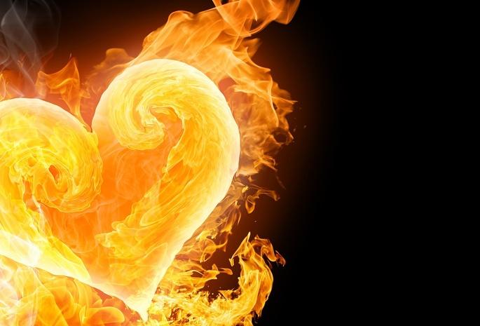 сердце в огне картинки