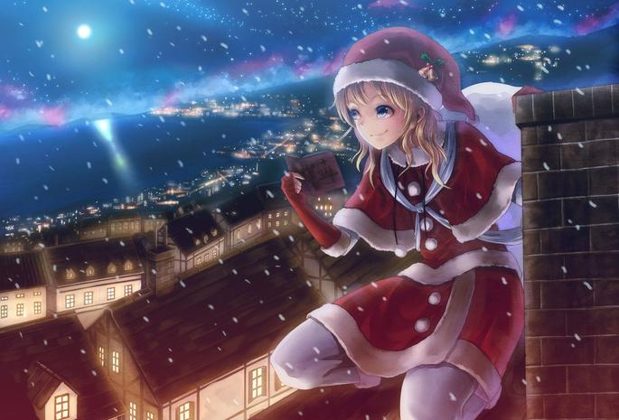 Новый год ночь девушка в костюме