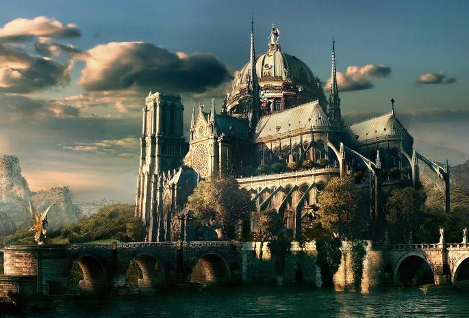 фото замок на воде