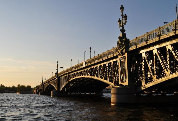 Мост река санкт петербург питер