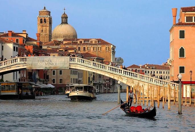 Венеция италия гондола мост город