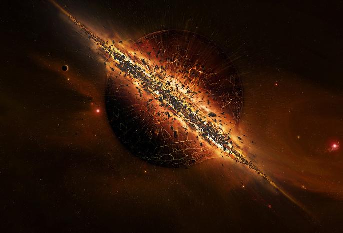 Космос планета катаклизм астероиды