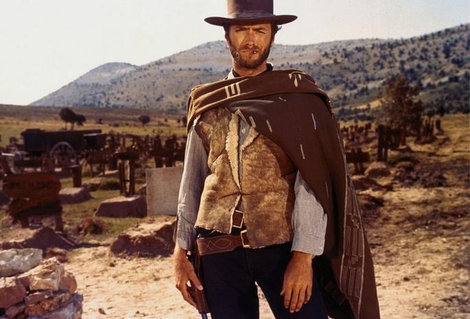 Actor клинт иствуд clint eastwood coat wild west grave