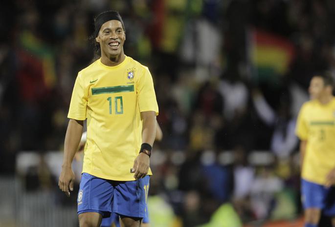 Футбол футбол обои роналдиньйо brazil