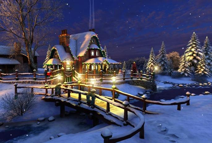 Картинки на рабочий стол зима новый год