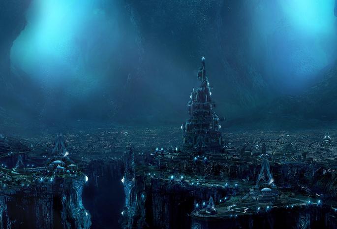 Подводный мир подводный город вода