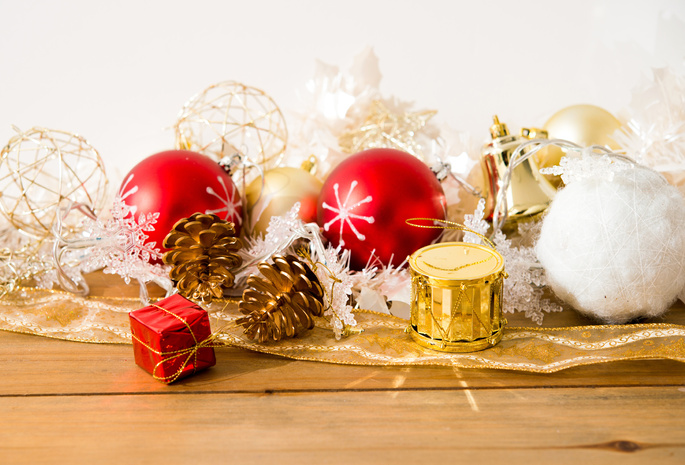 Merry christmas, new year, pinecone, decoration, gifts, toys, balls
