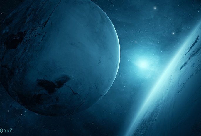 Name the two blue planets