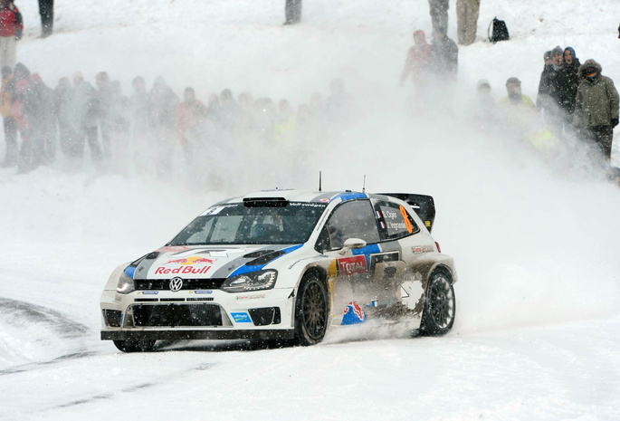 спорт, машина, wrc, ралли, Volkswagen, polo, rally, зима, снег