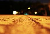 свет, эффект боке, дорога, Макро, night, road, macro, ночь, light