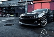 chevrolet, wallpapers, camaro, black, car, vossen, tuning, beautiful