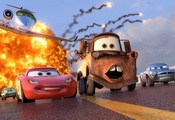 lightning, Cars 2, sport, owen wilson, animated film, racing, tokio drift,  ...