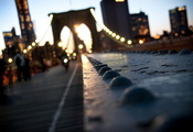 bridge, боке, нью йорк, brooklyn, ny, город, new, york, manhattan, New york ...