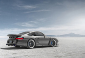 порше, 991, silvery, 996, rear, ssr, top secret, widebody, Porsche, серебри ...