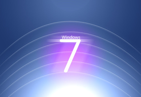 Windows, seven, logo, 7