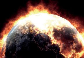 Fire World, Мир Огня, Космос, Планета, Вулкан, Лава, Огонь