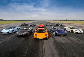 Supercars, aston martin v8 vantage roadster, mixed, суперкары, lamborghini gallardo spyder