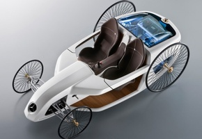 Mersedes, мерседес, машина, concept, benz, авто, f-cell, белая, roadster