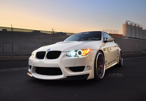 eas, Bmw, m3, white, e92