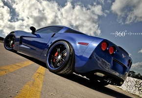 blue, z06, корвет, 360 three sixty forged, corvette, шевроле, Chevrolet, синий