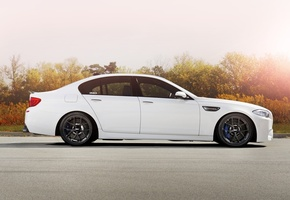 f10, белый, road, bbs, wheels, бмв, trees, bmw, m5