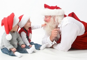 claus, santa, children, merry, holidays, interview, happy, christmas