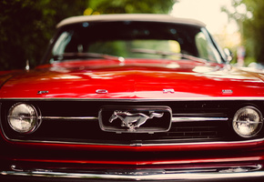 mustang, ford, red, форд, красный, classic, мустанг