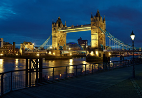 england, uk, night, river, city, London, thames, light, lantern, лондон, tower bridge