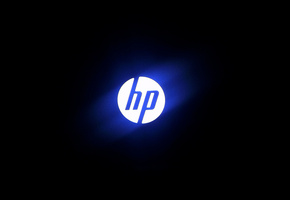 hi-tech, blue light, computer, Hp, photo, logo