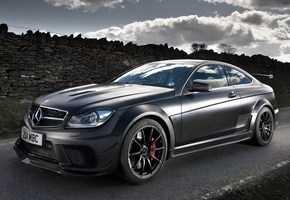 купе, amg, c63, Mercedes-benz, black series, чёрный, мерседес, амг, coupe