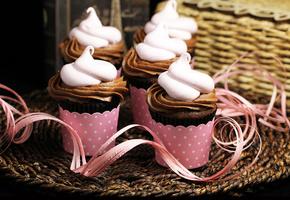 крем, Еда, кексы, сладкое, кексик, кекс, розовый