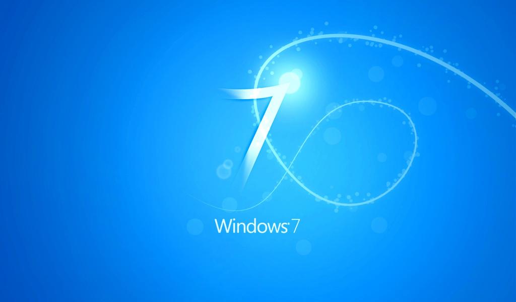 синий, голубой, белые полосочки, семерка, эмблемы, 7, цыфра,уголок,свет,солнце,круг,освещение,линии,дуги,логотип,работа,виндовс