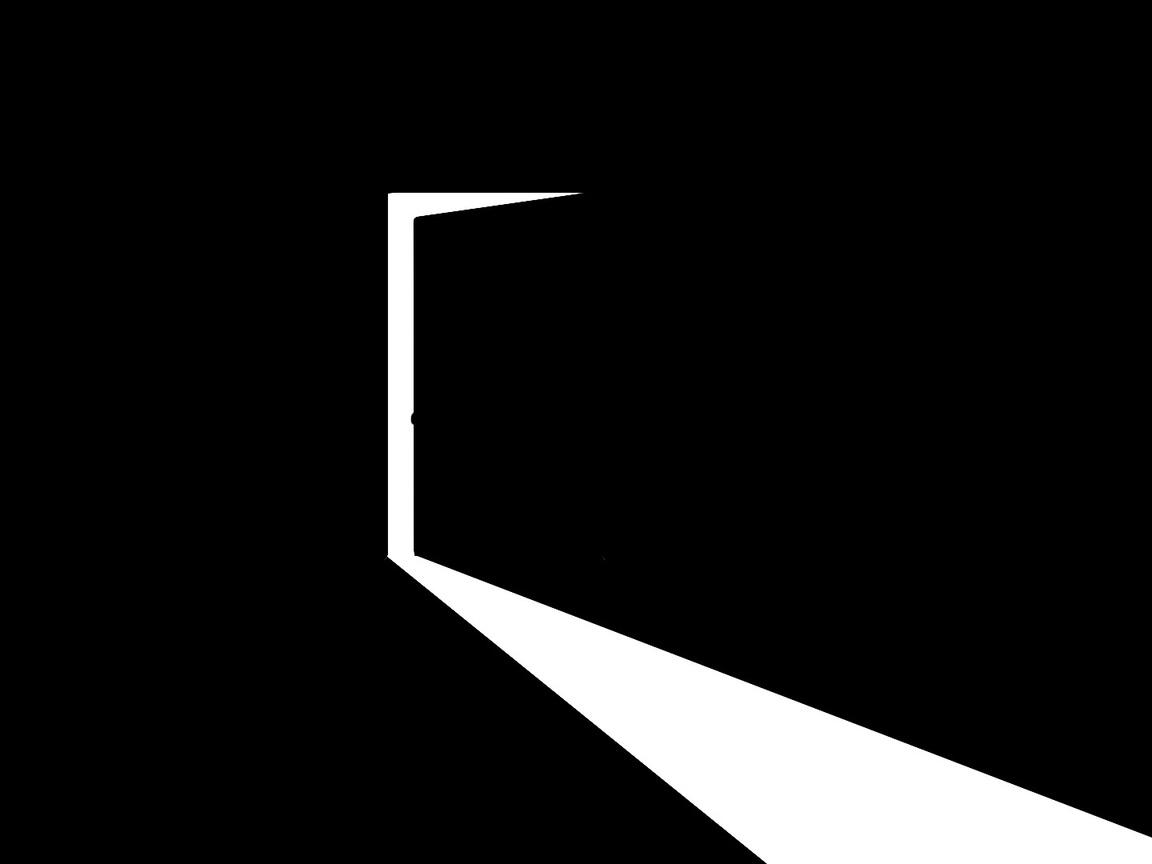 приоткрытая дверь, темная комната, свет, простота, контраст, белый, минимализм, стиль, арт, белый, темный фон, черный фон