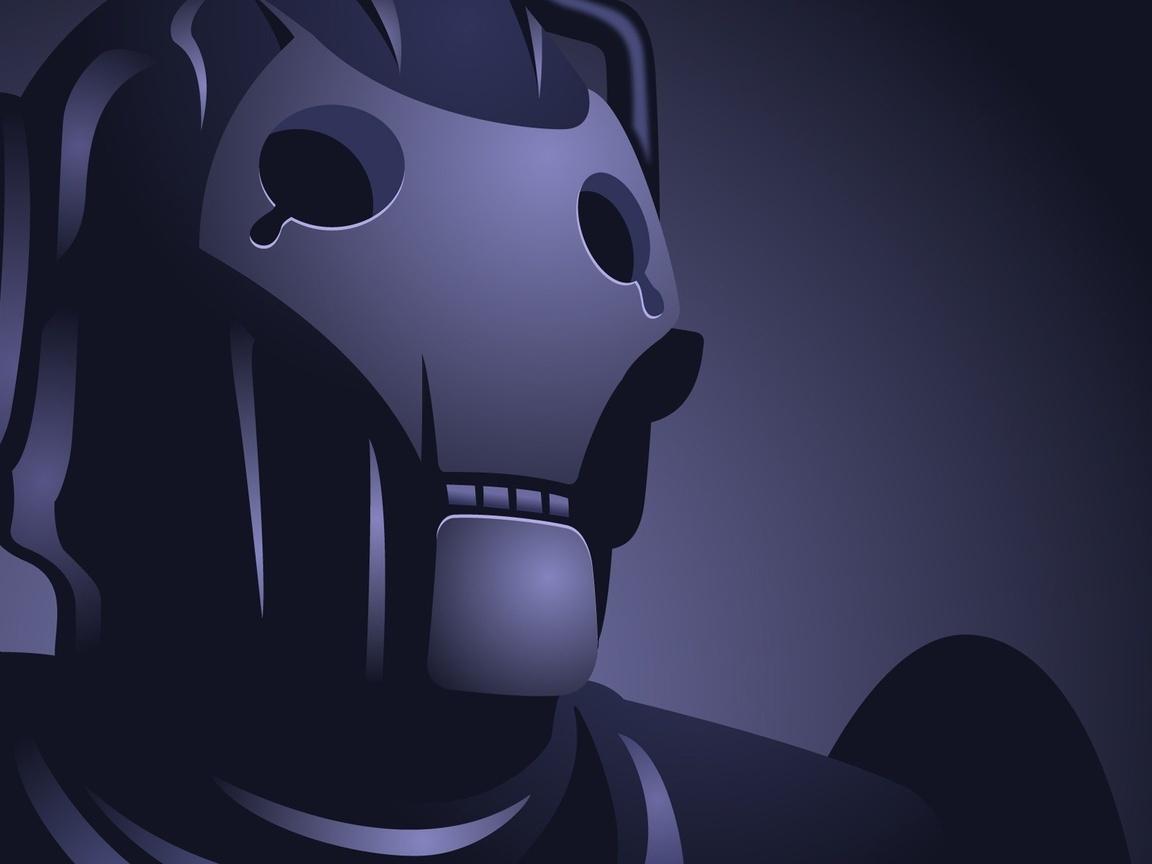 серый, робот, искусственный интеллект
