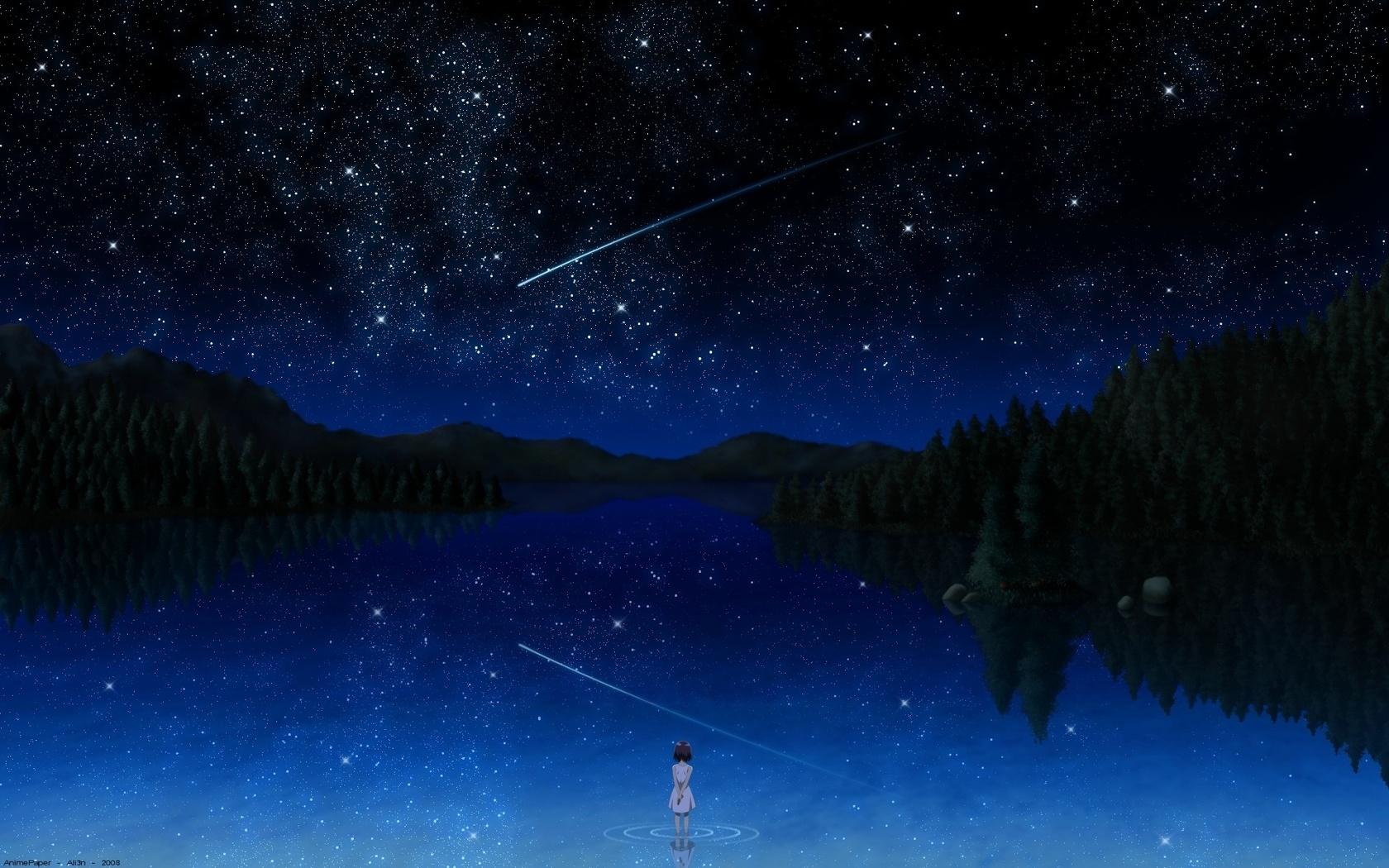 Рисунки ночное звездное небо скачать
