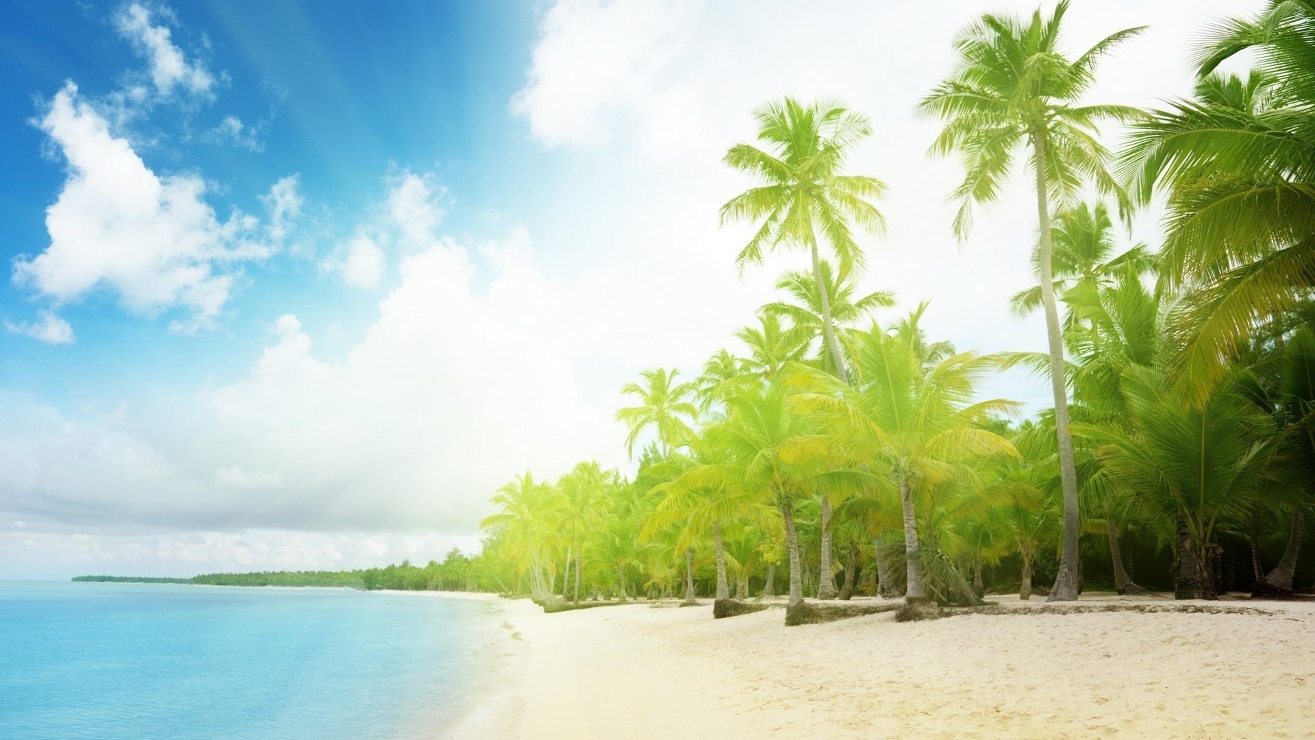 Пляж вода небо море остров лето