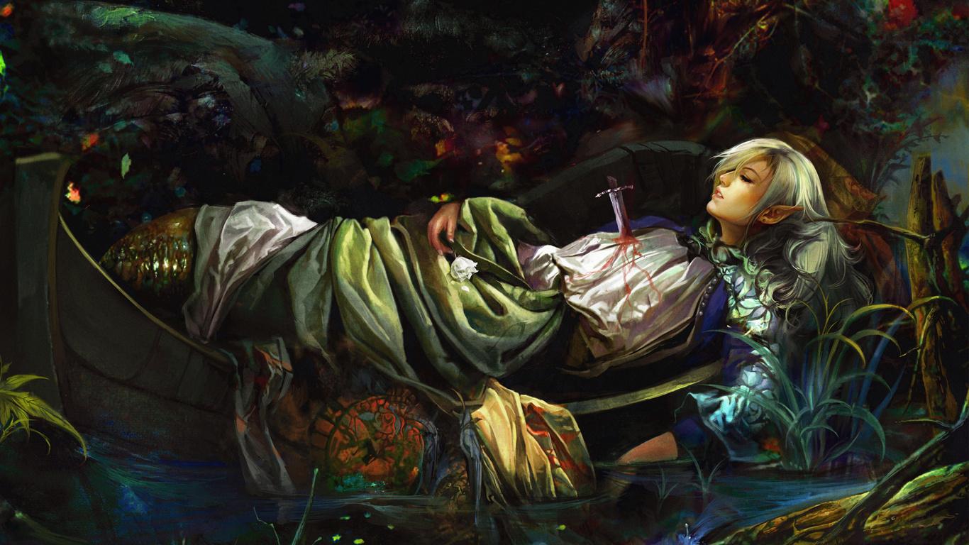 Эльф девушки а рисунки а смерть а