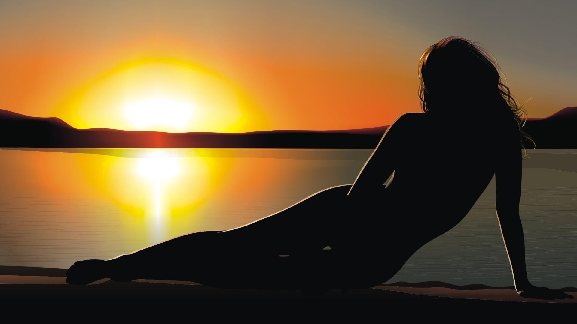 Девушки на природе фото на закате