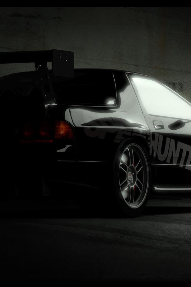 honda civic, тюнинг, в тени, спойлер, хонда, легковые авто, транспорт, авто, автотранспорт, ночь, тьма, сумрак