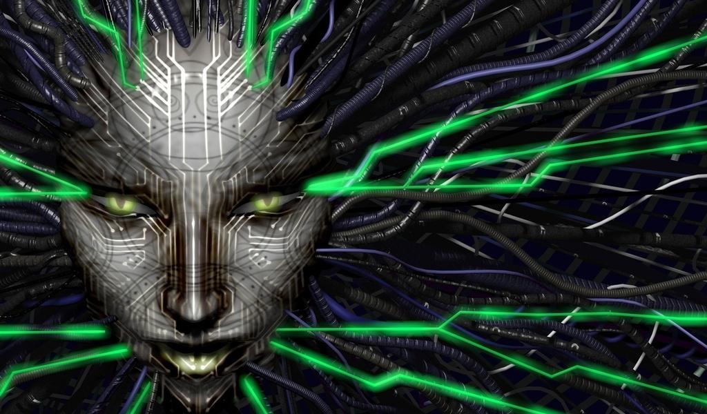 system shock 2, shodan, ai, разум, машина, рисунки, аниме, лицо-а